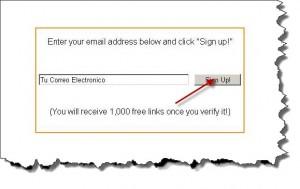 Como Conseguir 1000 enlaces Gratis   Registro 2
